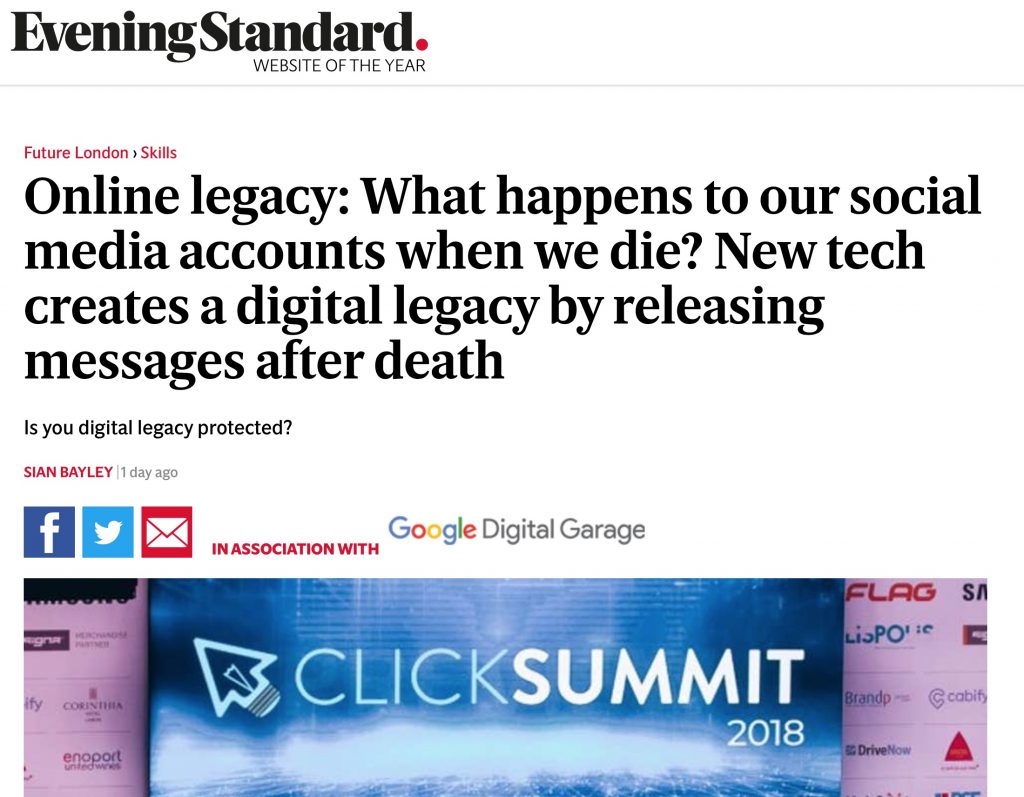 Evening Standard - Digital Legacy