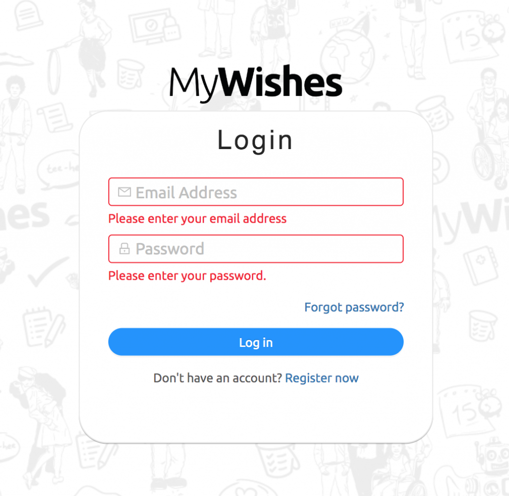 Login MyWishes